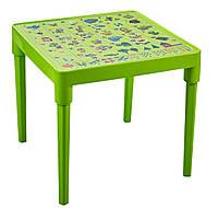 Столик Детский Пластиковый 51*51*47 см. Украинская Азбука
