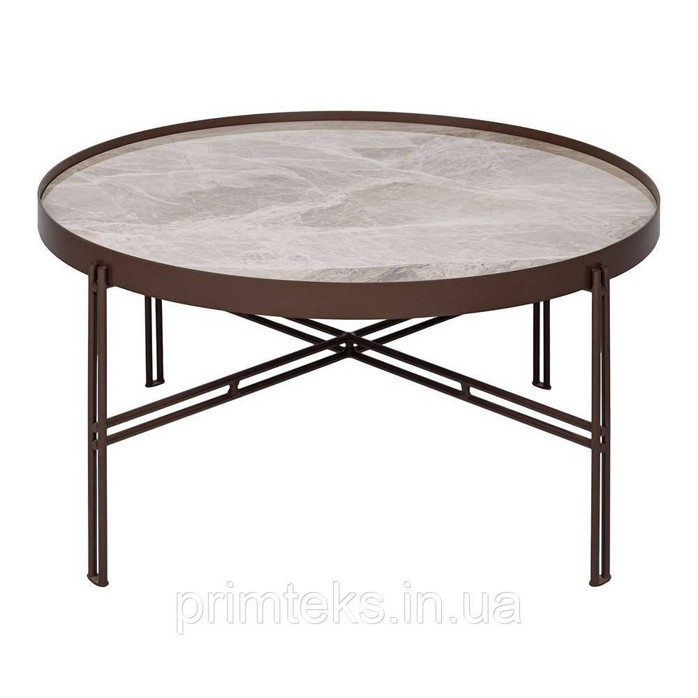 Журнальний столик ETON B кераміка світло-сірий глянець