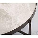 Журнальний столик ETON B кераміка світло-сірий глянець, фото 3