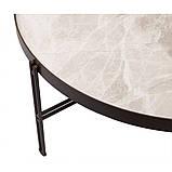 Журнальний столик ETON B кераміка світло-сірий глянець, фото 4
