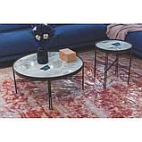 Журнальний столик ETON B кераміка світло-сірий глянець, фото 5