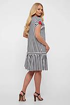 Симпатичне плаття в смужку, розмір від 52 до 58, фото 2