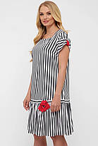 Симпатичне плаття в смужку, розмір від 52 до 58, фото 3