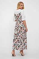 Комбинированное платье макси,  в стиле Кантри размер  от 52 до 56, фото 3