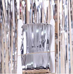 Дождик для фотозоны серебристый - (высота 1 метр, ширина 1 метр), двухсторонний, фото 7