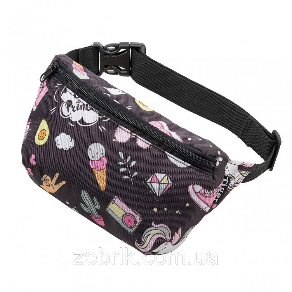 Бананка детская, сумка на пояс детская, сумка через плечо детская TIGER Ficsi Bea Princess