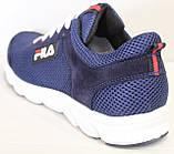 Кроссовки сетка синие мужские на шнурках от производителя модель ЛМ102-4, фото 5