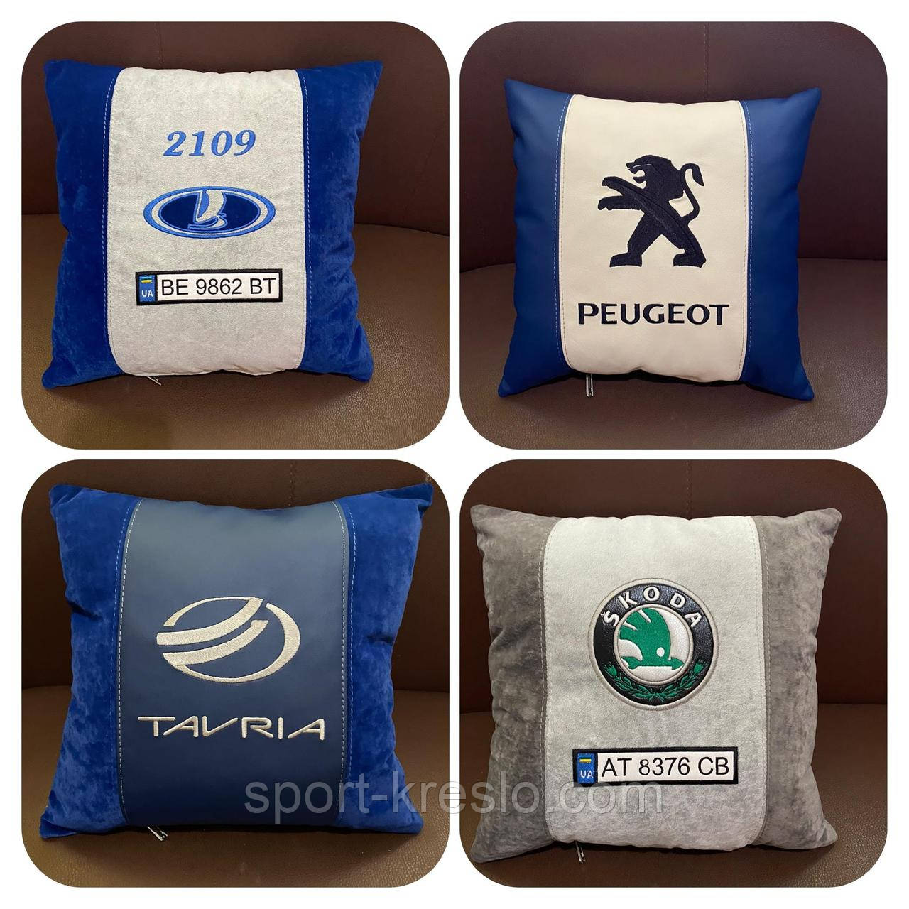 Авто-подушка с логотипом
