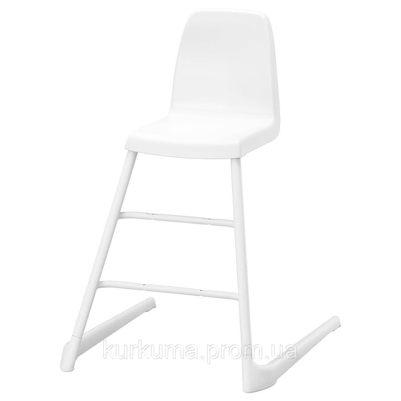 IKEA LANGUR Детское кресло, белое (192.526.15)