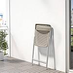IKEA TORPARO Стул, складной белый, бежевый (204.246.30), фото 2