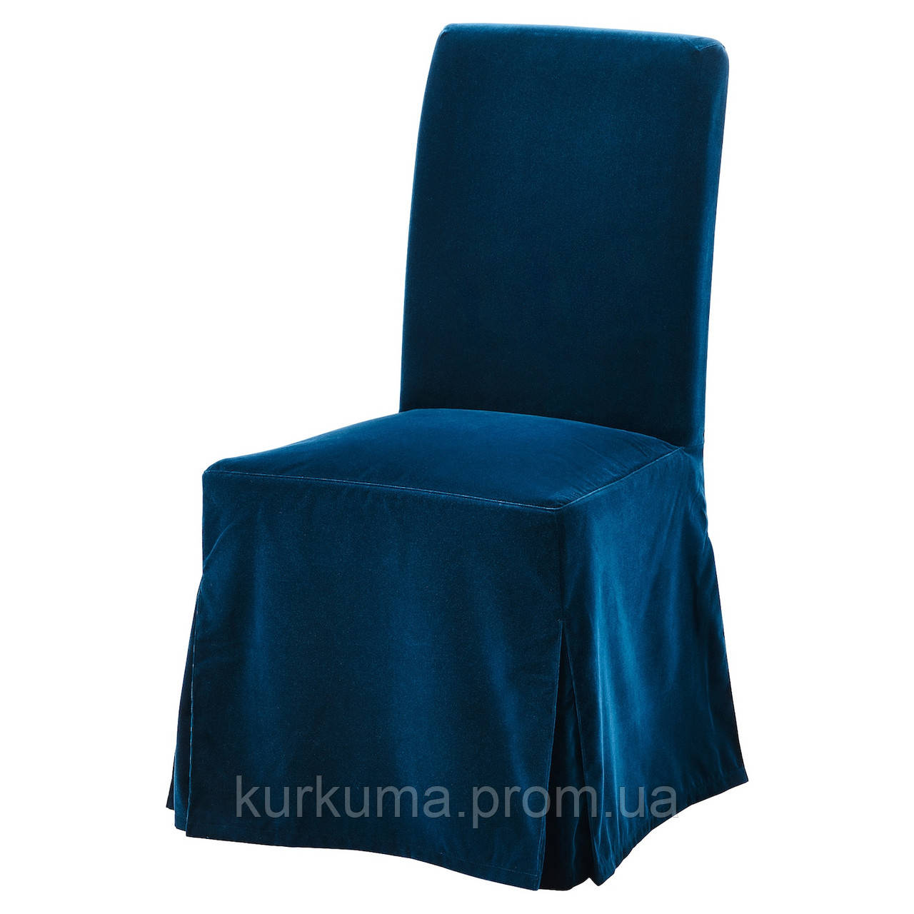 IKEA HENRIKSDAL Чехол для стула, длинный, Djuparp темно-зеленый синий (504.699.19)