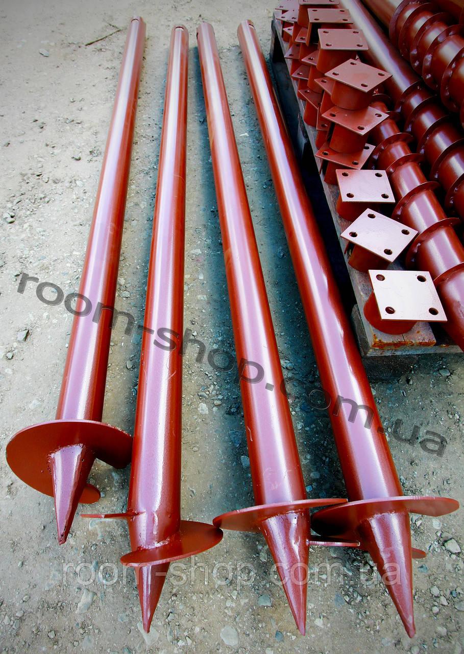 Однолопастная винтовая свая (паля) диаметром 89 мм., длиною 6 метров