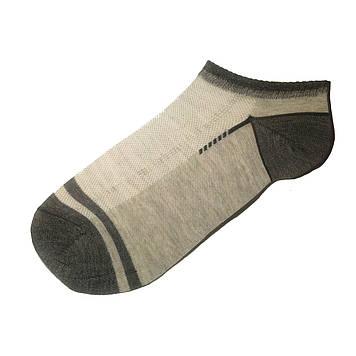 Носки мужские короткие тонкие с сеткой светло - серый