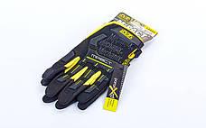 Перчатки тактические с закрытыми пальцами MECHANIX BC-5629 (XL, Черный-желтый), фото 3