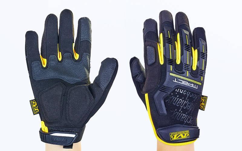 Перчатки тактические с закрытыми пальцами MECHANIX BC-5629 (XL, Черный-желтый)