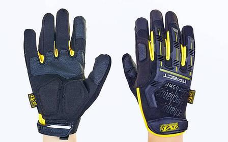 Перчатки тактические с закрытыми пальцами MECHANIX BC-5629 (XL, Черный-желтый), фото 2