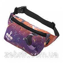 Бананка детская, сумка на пояс детская, сумка через плечо детская TIGER Ficsi Кошки и мышки