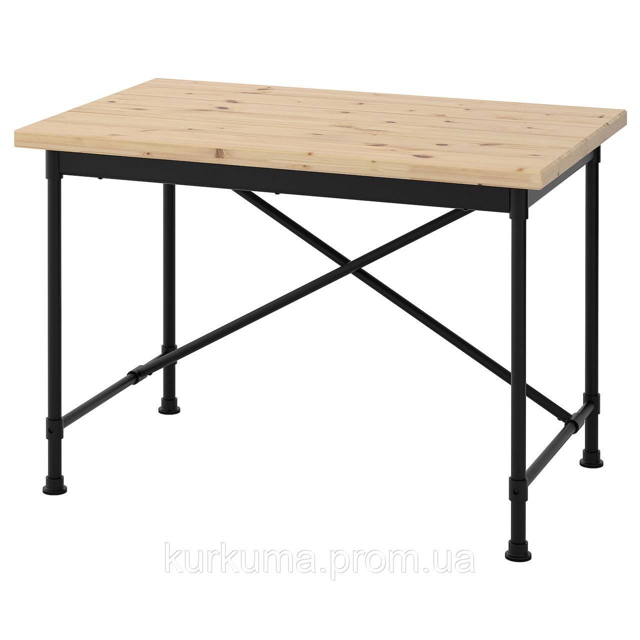 IKEA KULLABERG Стол, сосна, черный, 110x70 см (691.625.99)
