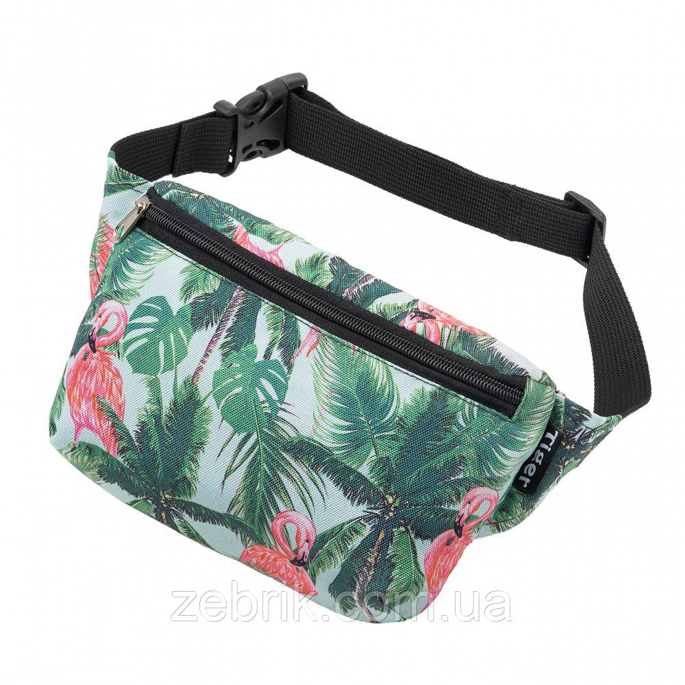 Бананка детская, сумка на пояс детская, сумка через плечо детская TIGER Ficsi Фламинго