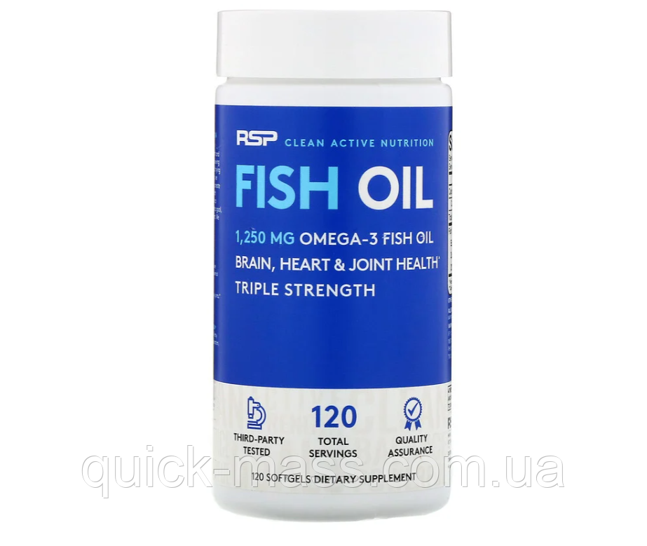 Омега-3 RSP Fish Oil Triple Strength 120caps