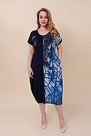 Женское летнее платье большого размера. Турция. Размеры 46\52, 48\54, 50\56, 52\58 ОПТ И РОЗНИЦА, фото 1