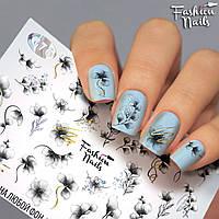 Слайдер-дизайн наклейки на ногти для маникюра водные Fashion Nails G76