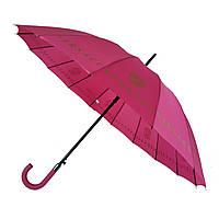 Зонтик-трость полуавтомат Max NEW LOOK на 16 карбоновых спиц Розовый (1001-1)