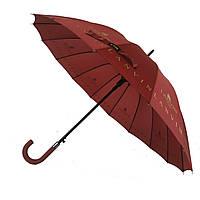 Зонтик-трость полуавтомат Max NEW LOOK Бордовый (1001-4)