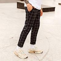 Мужские штаны Эйб (Abe) в синюю клетку  бренд ТУР  размер ХS,S, M, L, XL