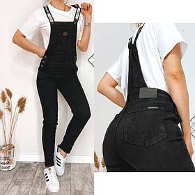 Чорний жіночий джинсовий комбінезон Relucky 31-8825
