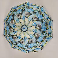 Женский зонтик La-la land полуавтомат на 10 спиц Голубой (499-5), фото 1