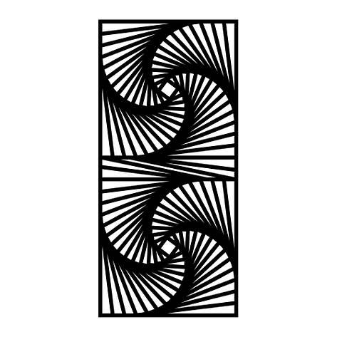 Резная декоративная решетка Протуберанец, фото 2
