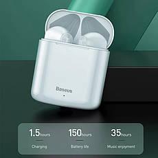 Бездротові навушники гарнітура з мікрофоном Baseus Encok W09 TWS Red, фото 3