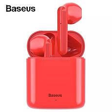 Беспроводные наушники гарнитура с микрофоном Baseus Encok W09 TWS Green, фото 3