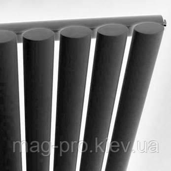 Дизайнерский радиатор вертикальный Metro - антрацит - высота 1600 мм (различной ширины), фото 2