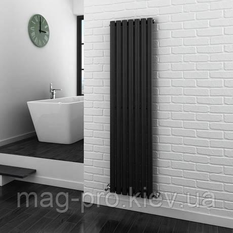 Дизайнерский радиатор вертикальный Metro - антрацит - высота 1600 мм (различной ширины)