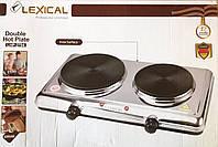 Плита електрична двухконфорная Lexical LHP-2704 2200Вт