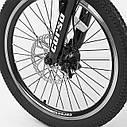 """Детский спортивный велосипед Corso 20"""" металлическая рама 11"""" фиолетовый 21-скоростной от 5лет рост от 115см, фото 6"""