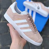Кросівки Жіночі Adidas Gazelle Пудра Замша Топ (36-40)