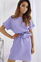 Плаття Сарафан+сумочка на пояс в горошек  женское летний модный прогулочный хорошего качества есть цвета 42-46