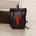 Рюкзак роллтоп чёрного цвета бренд ТУР модель Джекс, фото 2