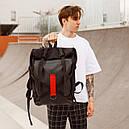 Рюкзак роллтоп чёрного цвета бренд ТУР модель Джекс, фото 4