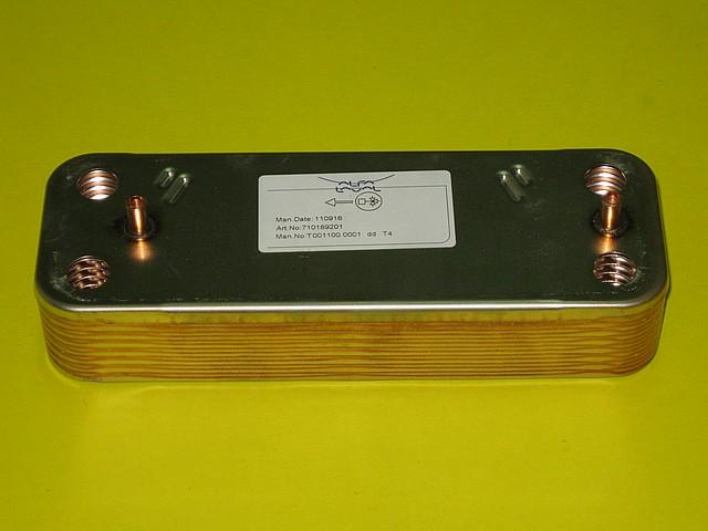 Теплообменник вторичный (14 пластин) 5686680 Westen, Baxi