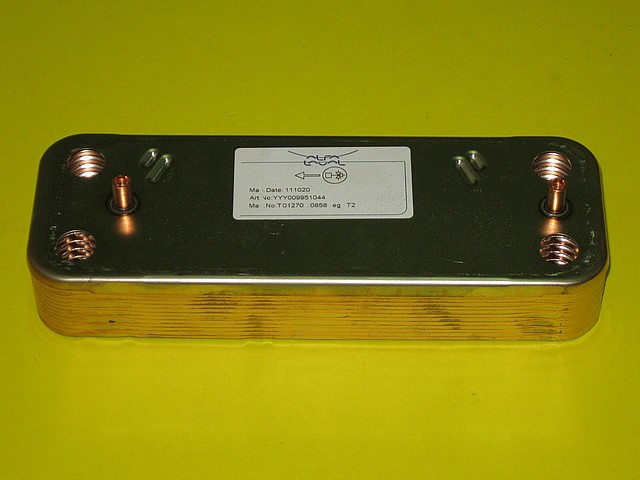 Теплообменник вторичный (12 пластин) 5686670 Westen, Baxi