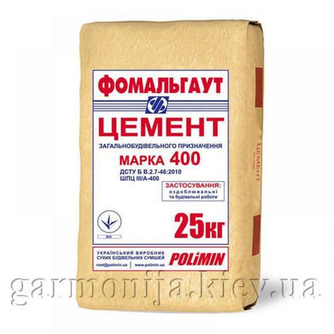 Цемент ПЦ М-400 Полимин, 25 кг, фото 2