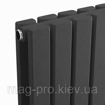 Дизайнерский радиатор Антрацит Вертикаль Двойная панель, фото 2
