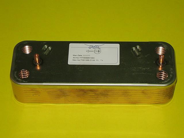 Теплообменник вторичный (16 пластин) Westen, Baxi