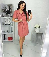 Сукня-сорочка з кишенями жіноче БАТАЛЬНЕ (ПОШТУЧНО)