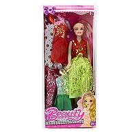 Кукла с нарядом, платья 4шт, микс видов, в кор-ке,(72)