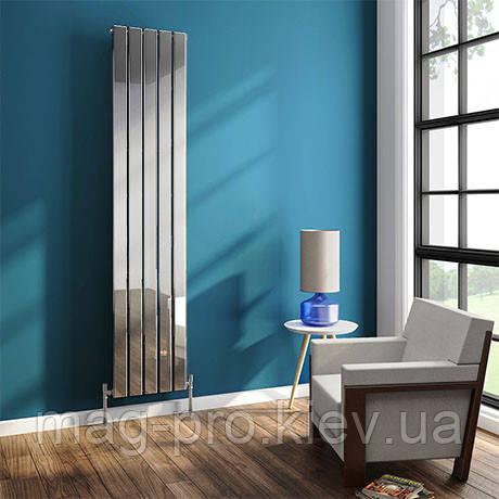Urban 1800mm Chrome Однопанельный вертикальный радиатор, фото 2
